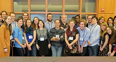 Group shot of some of the Grinnellians at the 2015 Society for Neuroscience annual meeting