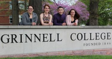 Left to right: Emma Traband '18, Emma Friedlander '18, Ryan Hung '18, Sara Ashbaugh '18