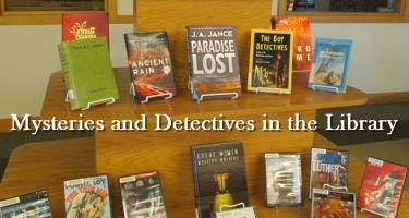 Mysteries and Detectives Book Display in the Library