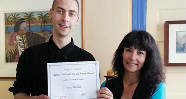 Isaac Walker, 2015 Helena Percas de Ponseti Award Recipient with Spanish chair Valérie Benoist (both pictured above)