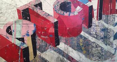 Detail from Andrew Kaufman's Untitled (Shatter Series)