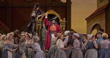 A scene from L Elisir d Amore Metropolitan Opera