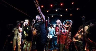 Rebirth Brass Band in performance