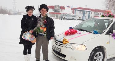 Newlyweds, suburb of Novosibirsk