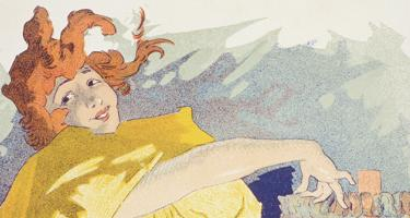 Detail of Saxoleine, poster by Jules Cheret