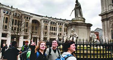 Students and faculty tour Moscow