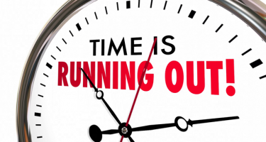 Clock Saying Time is Running Out