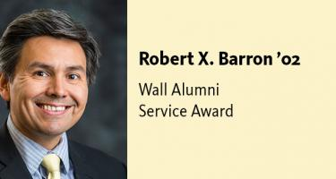 Robert X. Barron '02, Joseph F. Wall '41 Alumni Service Award Recipient