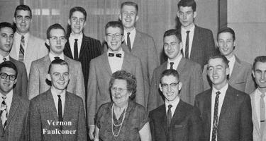 Vernon Faulconer with Younkers Men