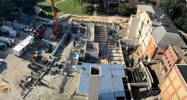 Aerial view of the HSSC construction
