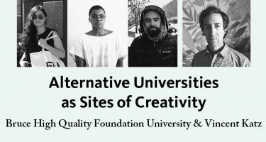 Images of the three BHQFU participants and Vincent Katz, Alternative Universities as Sites of Creativity