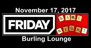 Friday, November 17 Board Game Night in Burling