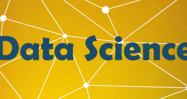 "The words ""Data Science"" on a background of interconnected nodes."