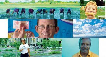 Montage of pictures of people showing a variety of ages, races, locations, and activities