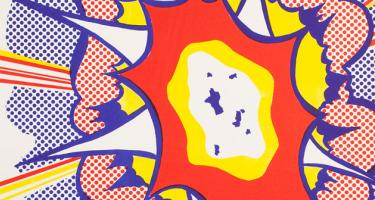 Detail from Detail from Roy Lichtenstein's Explosion, from Portfolio 9, 1967.