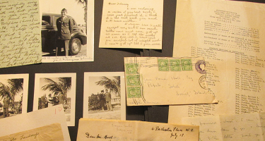 Old letters, postcards and photos