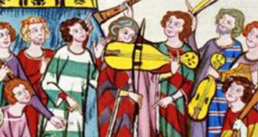 painting of medieval musicians